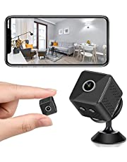 $39 » Mini Spy Hidden Camera, WiFi Wireless Hidden Camera with Audio Live Feed, 1080P HD Nanny Cam with Phone App, Motion Hidden Camera Detectors Night Vision Surveillance Camera for Home Indoor Outdoor