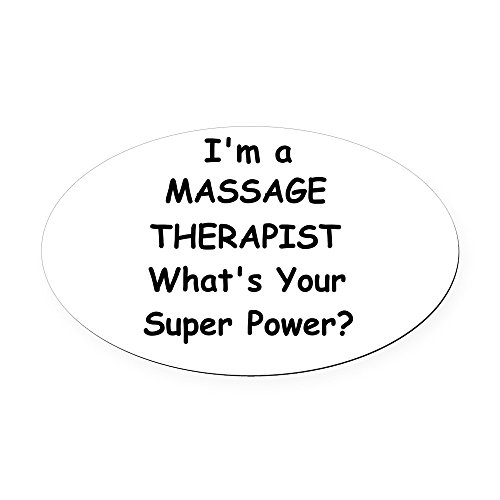 ssage Therapist, What's Your Super Power? - Oval Car Magnet, Euro Oval Magnetic Bumper Sticker ()