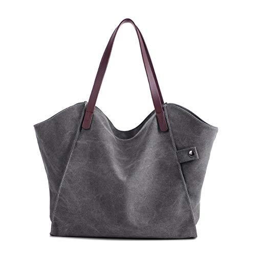 Mano Bag Per Signore A Tela Shopping A Donne YJIUJIU Borse Borsetta Shopper Casual Borse Grande Tracolla Vintage Tote wgCpwafq
