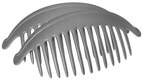 France Luxe Belle Larger Interlocking Comb, Matte Graphite, Set of 2 - An Excellent Styling Solution For Long/Thick or Curly Hair