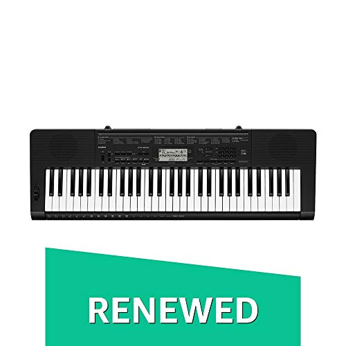 Casio CTK-3500 61-Key Touch Sensitive Portable Keyboard with Power Supply (Renewed)