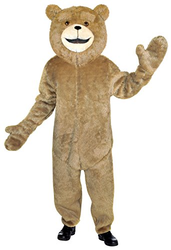 UHC Unisex Cuddly Ted Jumpsuit Mascot Theme Party Adult Halloween Costume, OS (Disney Character Mascot Costumes)