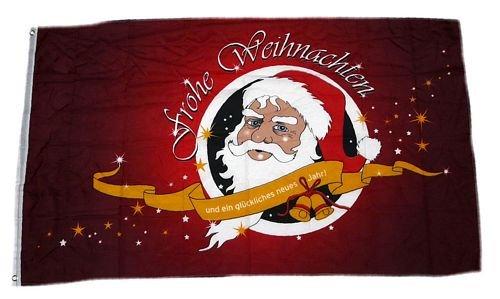 Fahne / Flagge Frohe Weihnachten rot NEU 90 x 150 cm