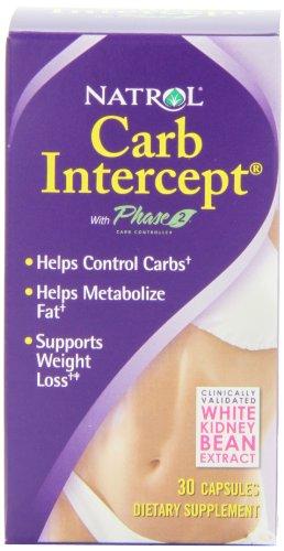 Natrol Carb Intercept avec Phase 2 Starch Neutralizer, 30 capsules (pack de 3)