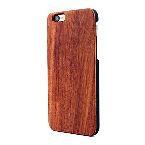 KASOWORKSHOPS Unique Real Handmade Natural Wooden Bamboo Hard Slim Case for iPhone 6 Plus / iPhone 6s Plus (Rosewood)