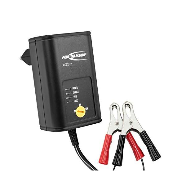 41HoQirkisL ANSMANN Batterie Ladegerät 2V/6V/12V mit Erhaltungsladung zum Einlagern von Blei Akkus (Gel, Wet, MF, VRLA, AGM) für…