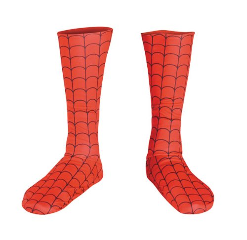- 41HoQs7KSgL - Kids Spiderman Costume Boot Covers