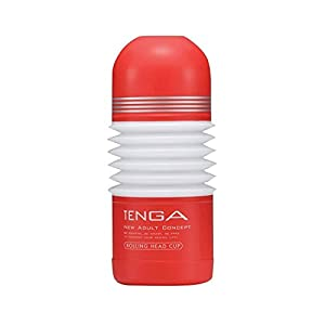 Tenga Rolling Head Cup Hard Red High 16 Cm Wide and 6.50 Cm Silicone Sexual Cans Pussy