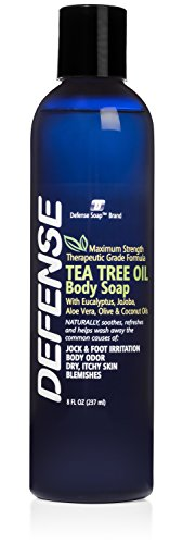 - Defense Soap Body Wash Shower Gel 8 Oz - 100% Natural Tea Tree Oil and Eucalyptus Oil