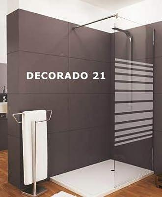 Mampara de ducha frontal de 2 hojas fijas y 2 puertas correderas - Cristal 6 mm con ANTICAL INCLUIDO - Modelo GALAXIA (161-170 cm): Amazon.es: Bricolaje y herramientas