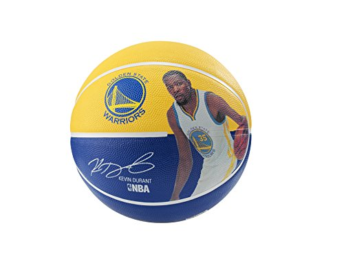 fan products of Spalding 83345 Kevin Durant Basketball, Gold/Blue