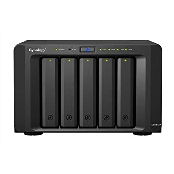 Synology DiskStation 5-Bay Diskless Network Attached Storage (NAS) with  iSCSI/DS1513+