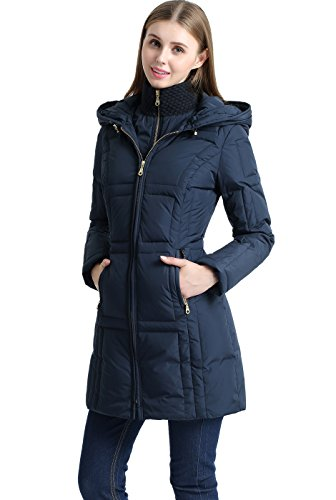 Dakota South Belt - BGSD Women's Whitney Waterproof Down Puffer Coat - S Navy