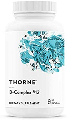 Thorne Research - B-Complex #12 - Vitamin B Complex With Active B12 and Folate - 60 Capsules