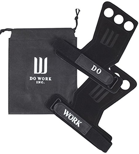 (Leather Gymnastics & Crossfit Hand Grips | Professionally Designed for WODs, Pull ups, Weightlifting, Muscle Ups, and Kettlebells - by Do Work. (Large))