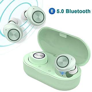 True Wireless Earbuds V5.0 Bluetooth Earbuds Waterpoof LED Sports in-Ear Wireless Headphones,HD Stereo Sound Bluetooth Wireless Earphone with Charging Case (Black)