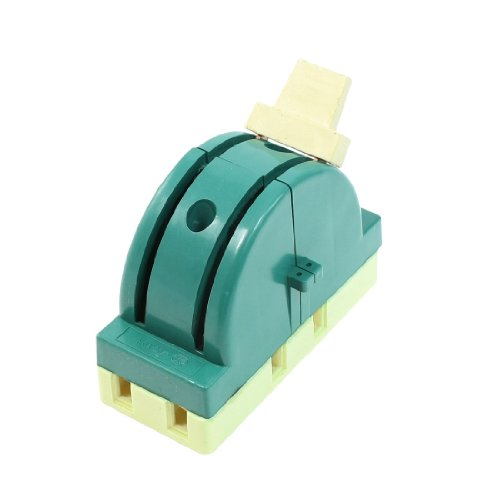 Uxcell AC 250V 32 Amp 2 Pole Double Throw Circuit Control Knife Disconnect Switch, Green