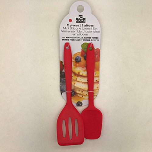 Cooks Corner 2-Piece Mini Silicone Utensil Set (Red)