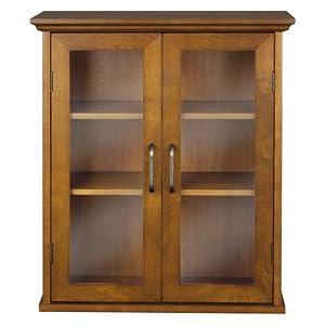 Elegant Home Fashions Avery Oil Oak Two-Door Wall Cabinet