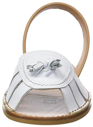 Minorquines Avarca Neo 2 Cuir Blanco, Sandales Bout Ouvert Femme Blanc (Blanc)