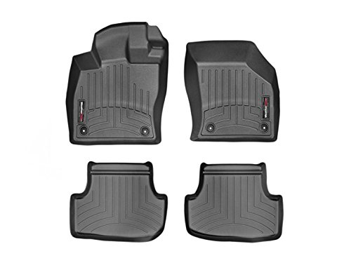Gti Floor (2015-2016 Volkswagen Golf/GTI/Rabbit/R32-Weathertech Floor Liners-Full Set (Includes 1st and 2nd Row)-Fits 5-Door hatchback Models Only-Black)