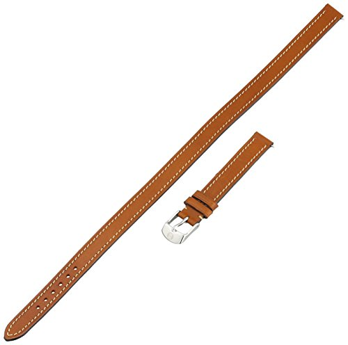 MICHELE MS12BX270216 12mm Leather Calfskin Brown Double-Wrap Watch Strap by MICHELE