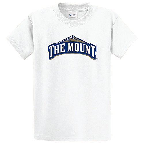 NCAA Mount St. Mary's Mountaineers Short Sleeve Tee, Small, White -