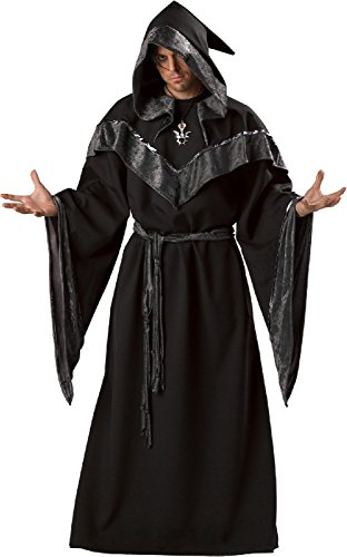 [Dark Sorcerer Costume - Medium - Chest Size 38-40] (Contact Lenses Costume)