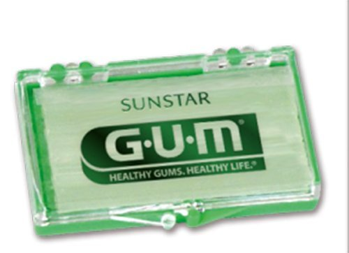 GUM Orthodontic Wax, Mint Flavor + Vitamin E - Bulk Pack (24)