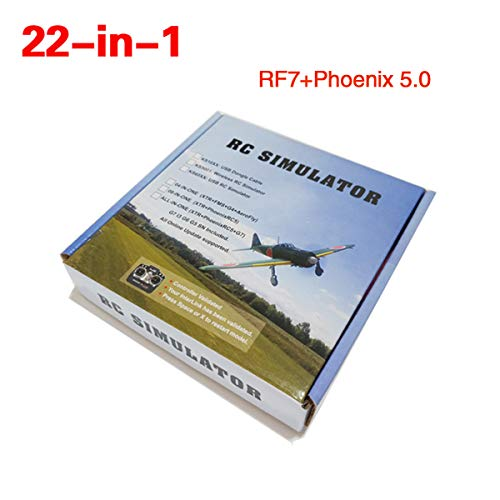 RC Flight Simulator Cables 22in1 USB Dongle Support Realflight G7 Phoenix 5.0 for RC Helicopter Aeroplane Car (22 Inch Rc Helicopter)
