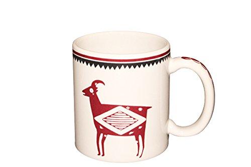 Mimbreño 11 oz Bighorn Sheep Mug (Original Maroon), Made 100% in USA