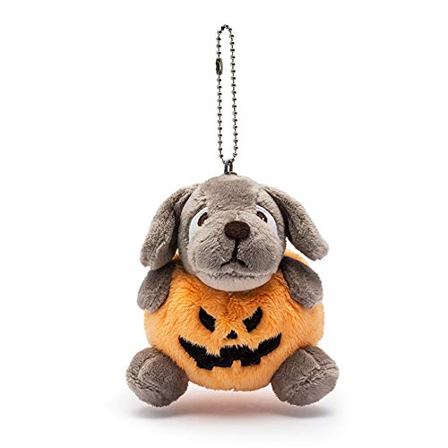 Hemore Halloween Mini Pumpkin Dog Plush Doll Pendants Pillow Emoticon Keychain Pumpkin Pendants Handbag Bag Keyrings (1PC Pumpkin Dog)