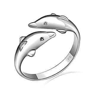 925 Sterling Silver Lovely Ring, Adjustable Size