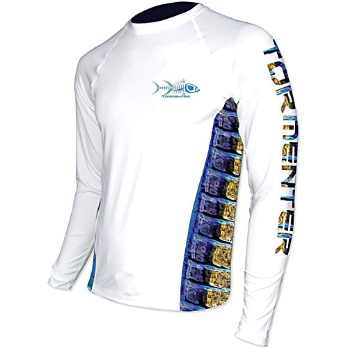 Tormenter Mens Side to Marlin Performance Shirt XL White