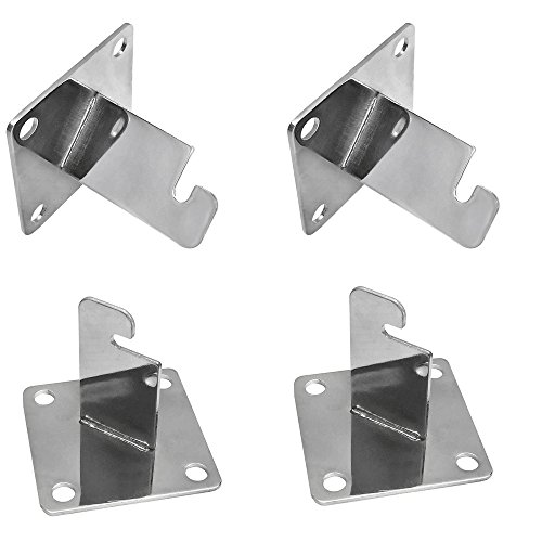 - PROLINEMAX 4 Pc CHROME 3'' x 3'' Gridwall Wall Bracket Mount Grid Panel Mount Mounting Brackets