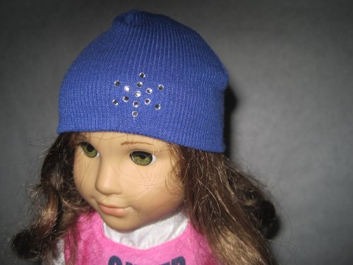 Blue American Girl Doll Hat with Rhinestones for 18 Inch Dolls Including the American Girl Line by Sophia's®, Baby & Kids Zone