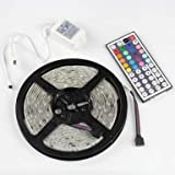 Dragonpad 16.4ft(5M) 5050 300LEDs/pc RGB multi-color Waterproof(IP-65) SMD Flexible Strip light with 44key IR Remote Controller
