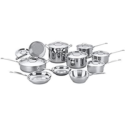 Cuisinart Chef's Classic Stainless Cookware 17 pc.Set (77-17), Certified Refurbished