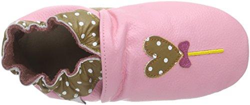 Rose & ChocolatElephant Kiss - pantuflas de aprendizaje Bebé-Niños Marrón - marrón