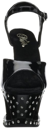Pleaser - Sandalias mujer, negro - black patent, 34.5