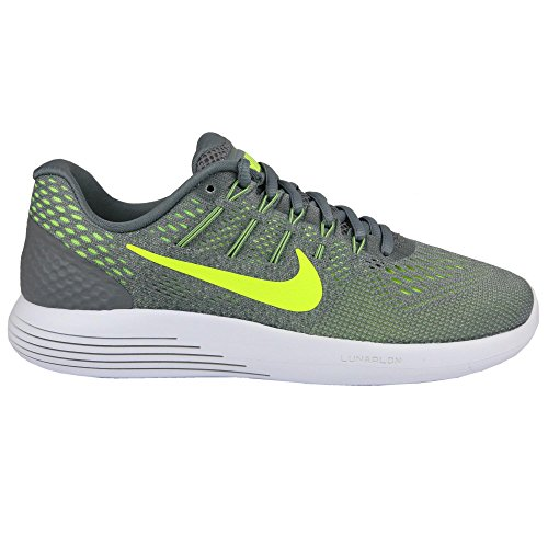 Nike Mens Lunarglide 8 Cool Grey/Volt Anthracite Running Shoe (8.5)
