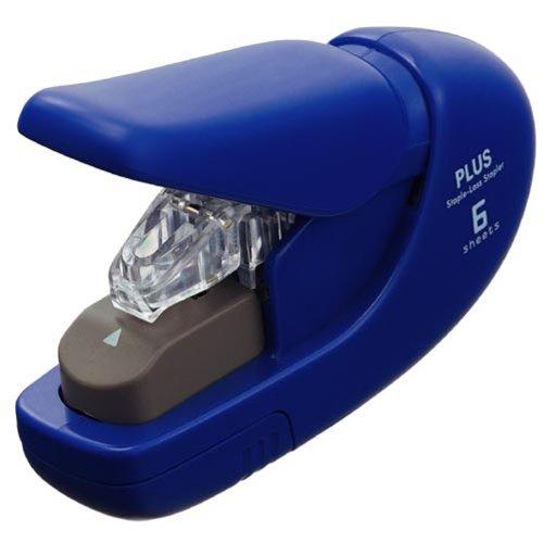 プラス 針なしホッチキス ペーパークリンチ ブルー 31-132 SL-106AB BL