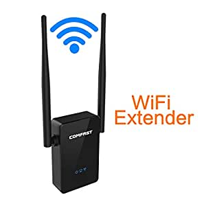 comfast universal n300 wifi range extender repeater dual band wireless signal. Black Bedroom Furniture Sets. Home Design Ideas