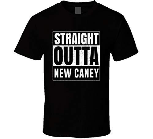 Straight Outta New Caney Texas City Grunge Parody Cool T Shirt 2XL Black
