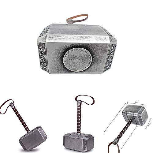 Thor Hammer Replica (Mastergoswords 2019 Thor Mjolnir Resin Hammer Collectible 1:1 Replica Cosplay Costume Prop Toy (Without Standing)