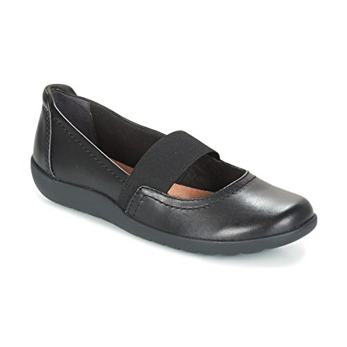 Clarks Medora Aliado Zapatillas Negro Piel Black Leather