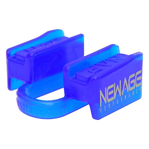 New Age Performance 6DS Sports And Fitness Weight-Lifting Mouthpiece - Lower Jaw - No-Contact - Includes Case - Blue