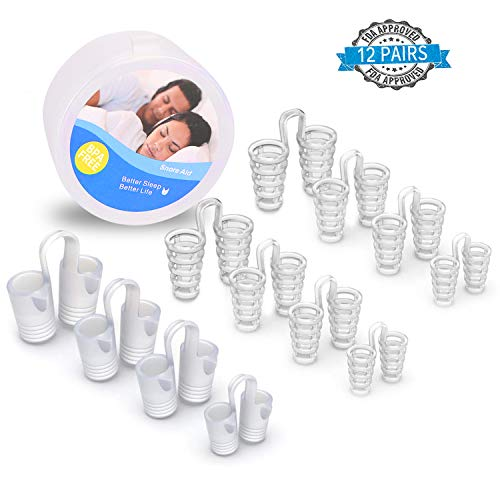 Comezy Anti Snoring Devices Set - Snoring Solution - Snore Stopper Set - 2 Anti Snoring Mouthpiece | Sleep Mouth Guard - 8 Silicone Nasal Dilators | Snoring Nose Vents - Stop Snoring Devices (1)