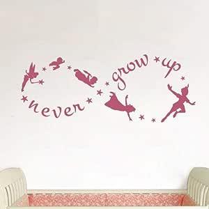 hllhpc Figura de Dibujos Animados Peter Pan Decal Nunca crecerá ...