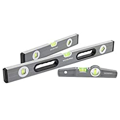 WORKPRO W002900A 3Pcs Spirit Level Set(9...